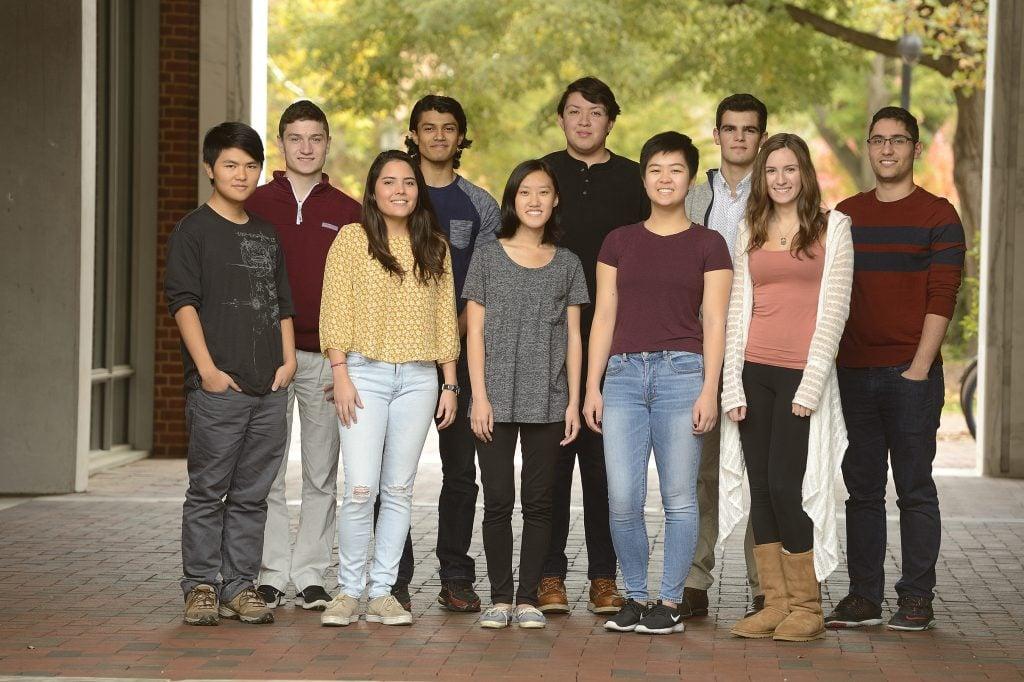 2016-2017 cohort of Clark Scholars