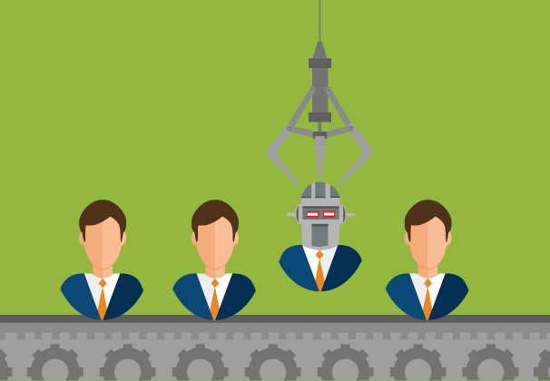 Illustration of robot worker