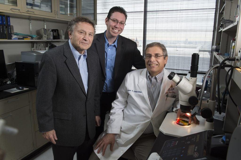 Aleksander Popel (left), Jordan Green, and Peter Campochiaro (right)