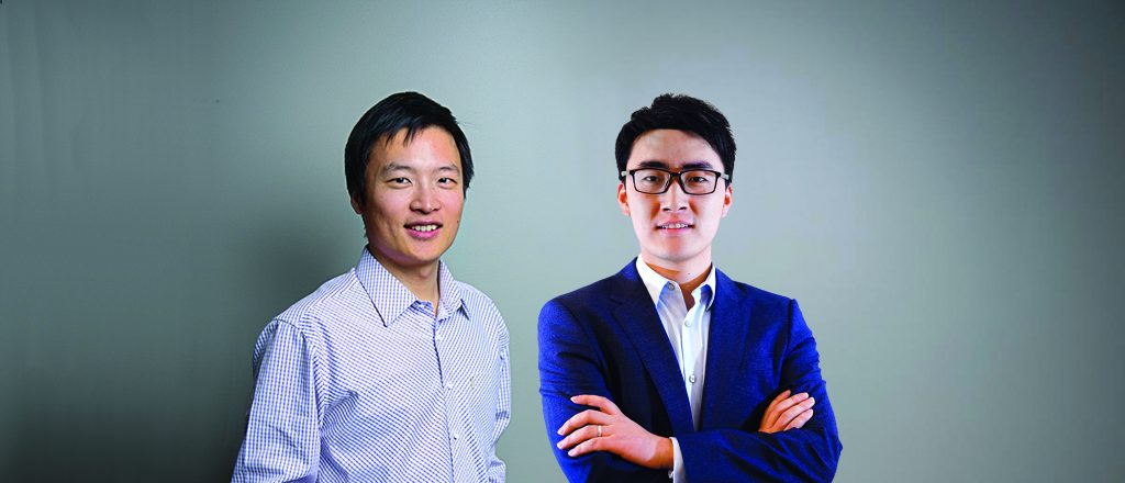 Xuchen Yao (left) and Guoguo Chen