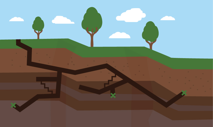 Illustration of tunneling robot
