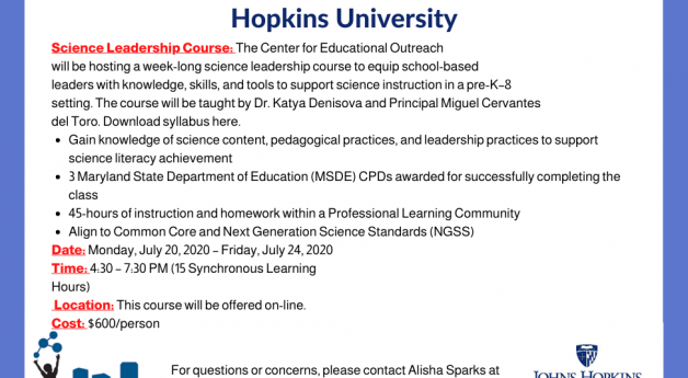 Science Leadership Course