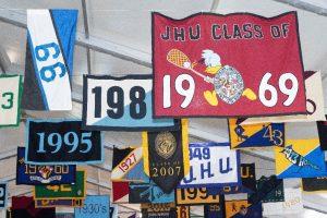 JHU class year banners